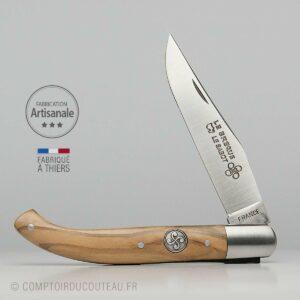 Couteau Basque Yatagan Bois Olivier Médaillon croix basque