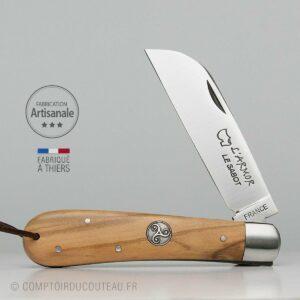 Couteau Armor (London) Bois Olivier Médaillon Triskell