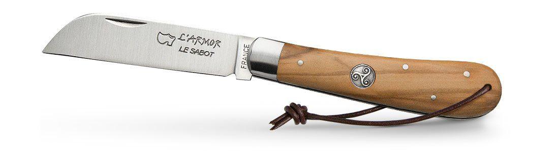 Couteau Armor Bois Olivier Médaillon Triskell