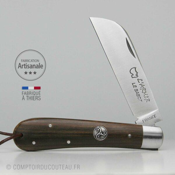 Couteau Armor Bois de Palo Santo Médaillon Triskell