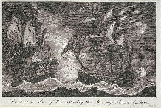 Bataille du 13 mars 1806 entre le London et le Marengo