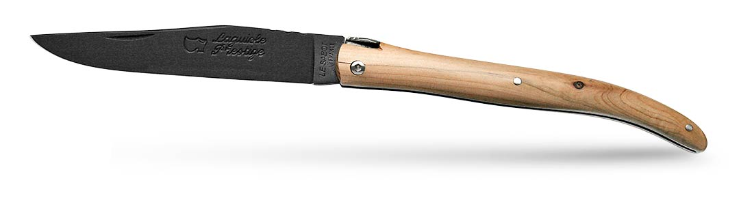 Couteau Laguiole plein manche en loupe de genévrier