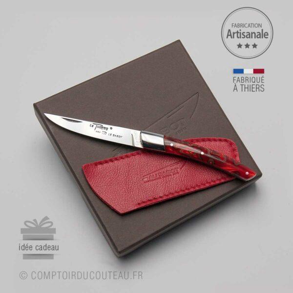 Couteau femme Le Thiers manche rouge