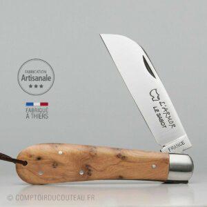couteau armor prestige bois de genévrier guilloché à la main
