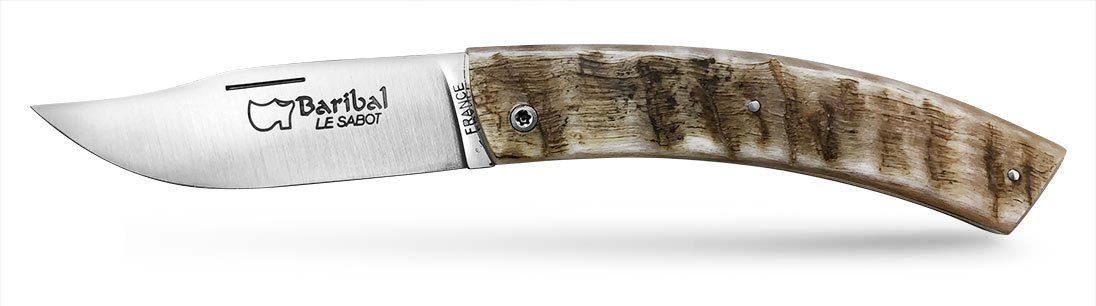 couteau Baribal manche corne de bélier lame acier inoxydable