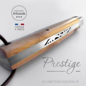 couteau alpin prestige genévrier guilloché main france