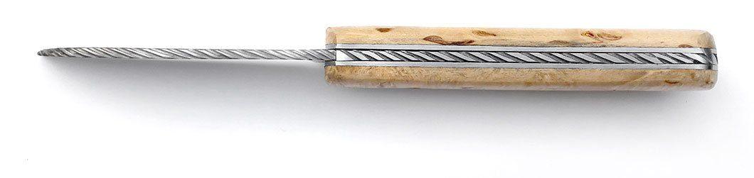 couteau Armor prestige bouleau finlandais guilloché main (effet cordage)