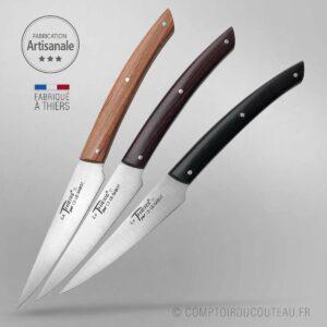 coffret de 6 couteau Thiers® 6 bois panaches bistro chic