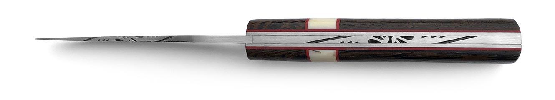 Couteau Alpin pour collectionneur matières nobles bois de wengué et dent de phacochère
