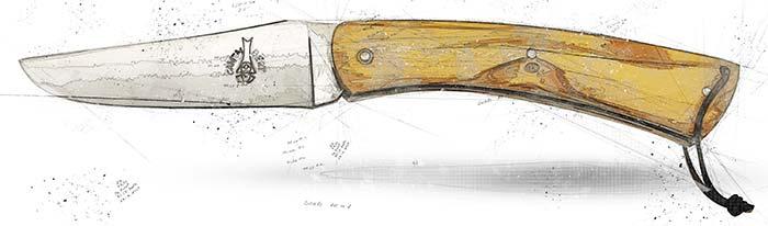 couteau le camembert